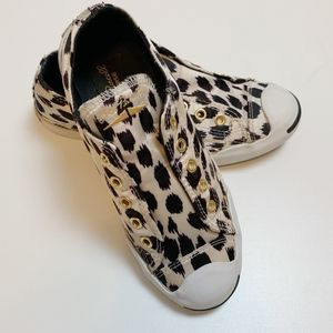 Converse Jack Purcell Laceless Leopard Sneakers